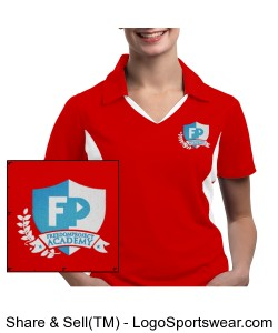 FPA Womens Polo Red *Embroidered Design Zoom
