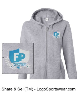 FPA Womens Zip Hoodie Sport Gray *Embroidered Design Zoom