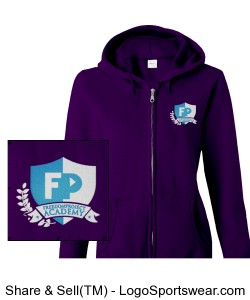 FPA Womens Zip Hoodie Purple *Embroidered Design Zoom
