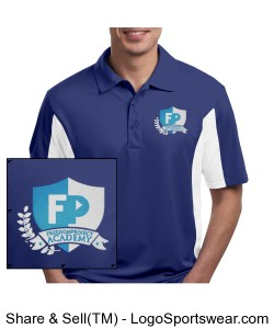 FPA Mens Polo Blue *Embroidered Design Zoom