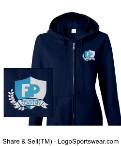 FPA Womens Zip Hoodie Navy *Embroidered Design Zoom
