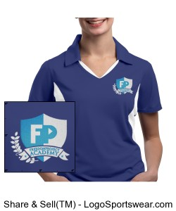 FPA Womens Polo Blue *Embroidered Design Zoom